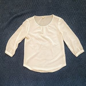 White J. Crew Blouse